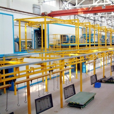 Suspended conveyor line