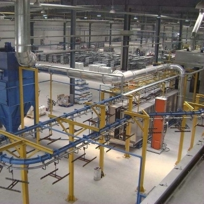 Spray hanging production line